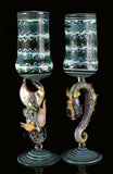 Dragon and Koi Fish Wine Decanter set by, Phil Sundling