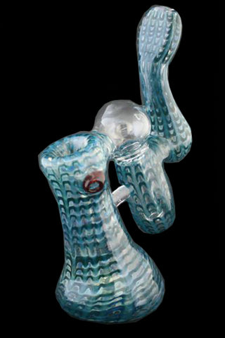 Color Double Bubbler water pipe by Phil Sundling