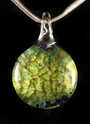 Green Exotic Frit Pendant