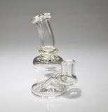 Dab Rig 14mm clear by, Glass by Mouse