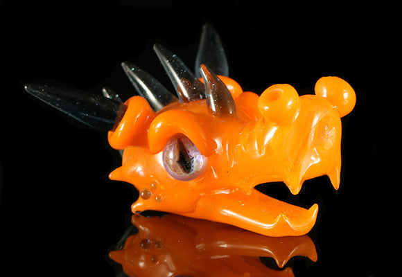 Orange Dragon Head by Deviant