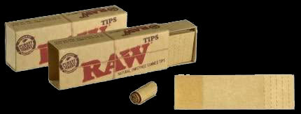 Raw King Rolling Papers with tips