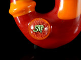 Sean Foley/STF Glass Sherlock: Red and Orange
