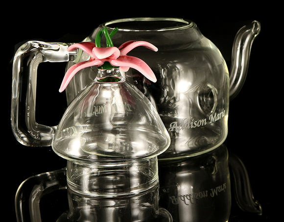 Custom Glass Tea pot