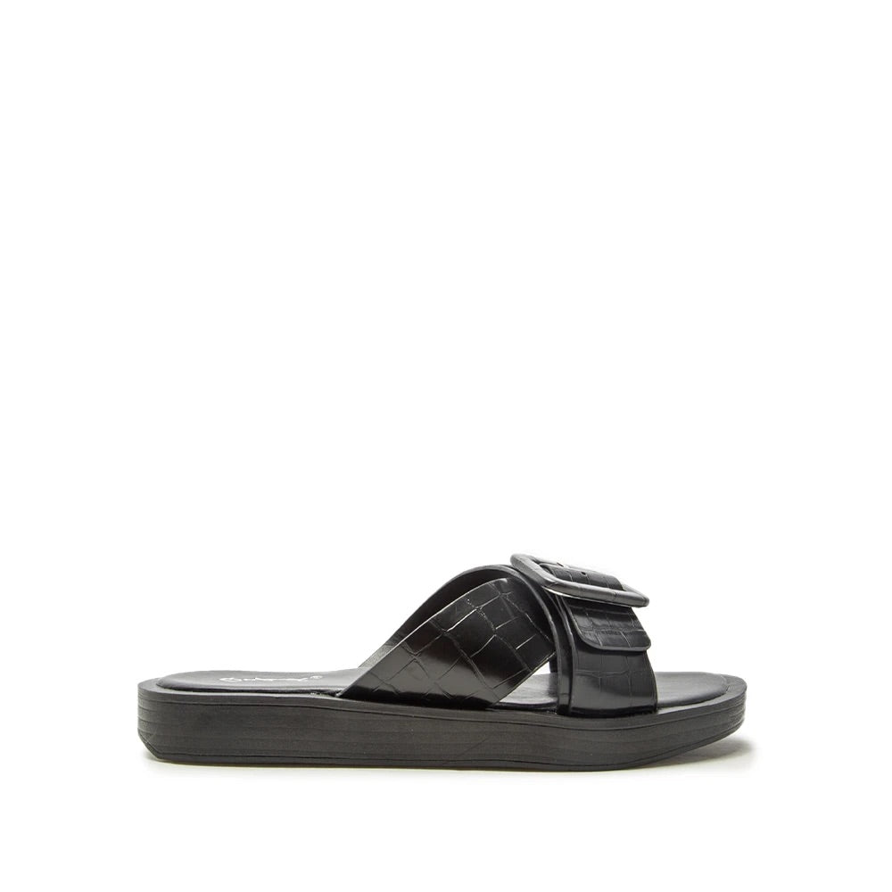 $20 CLEARANCE BLACK CROC SANDAL