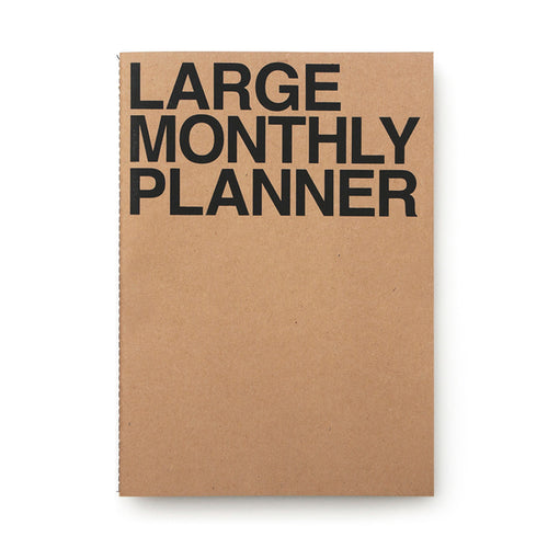 Large Monthly Planner | Kraft