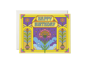 Bold Art Deco Birthday Card