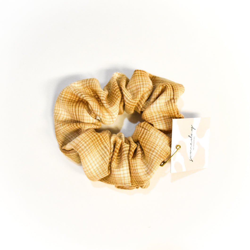 Hair Scrunchie - Neutral Plaid