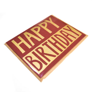 Happy Birthday - BOLD- upper case bold - Artrocks Press