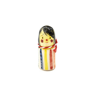 Ceramic Peg Doll | Stripe