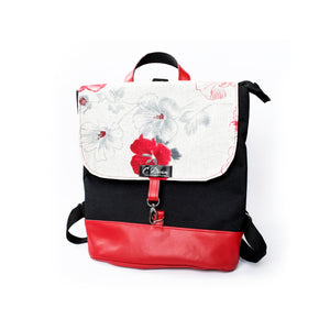 Red Floral Backpack