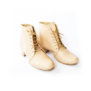 Lace Up Ankle Boots | Sand