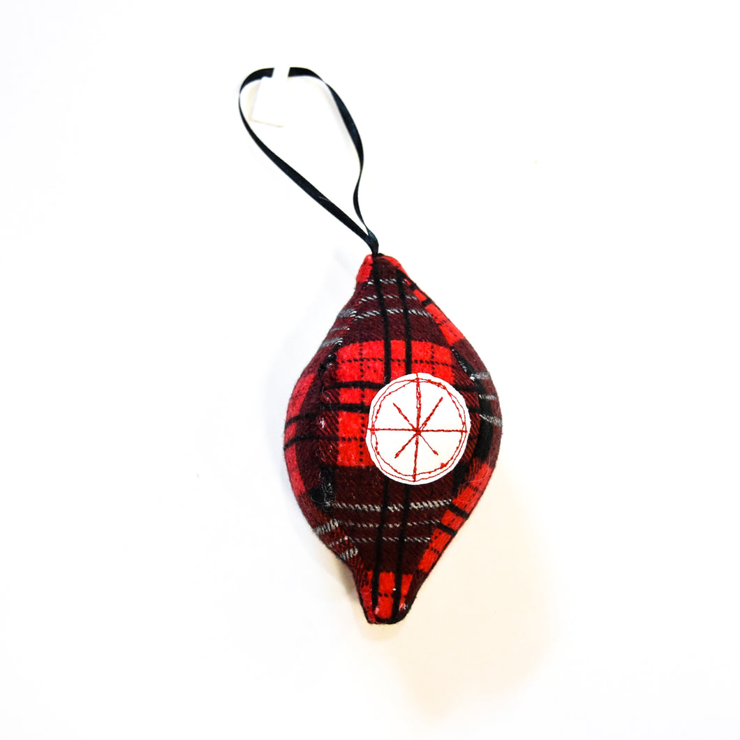 Plaid Fabric Ornament | Various Styles