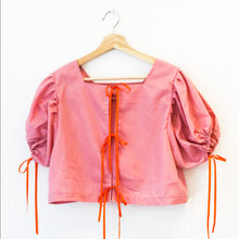 Load image into Gallery viewer, Short Sleeved Montgomery Blouse | Pink