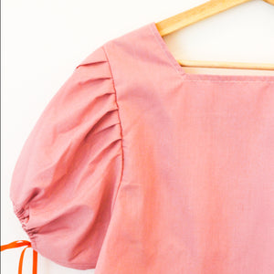 Short Sleeved Montgomery Blouse | Pink