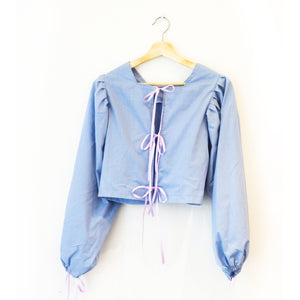 Long Sleeved Montgomery Blouse | Periwinkle