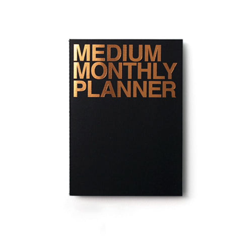 Medium Monthly Planner | Black