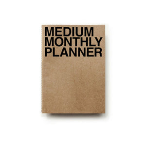 Medium Monthly Planner | Kraft