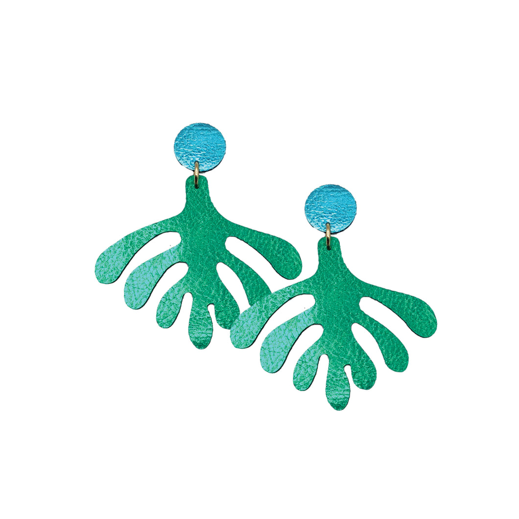 Abstract Palm Earrings | Various Colours