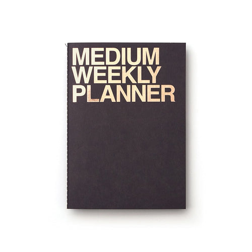 Medium Weekly Planner | Black