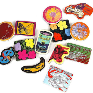 Andy Warhol Wooden Magnetic Shapes Set