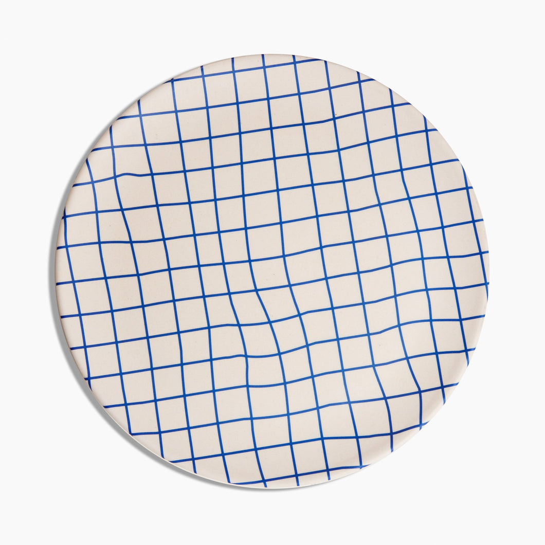 Bamboo Dinner Plate Set | Grid