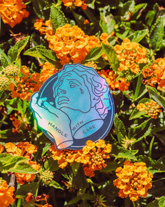 Handle With Care Holographic Sticker