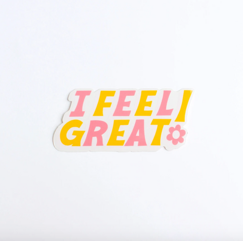I Feel Great Sticker | Colour