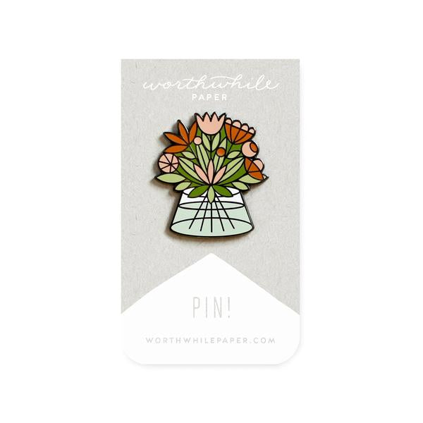 Flowers Bouquet Enamel Pin