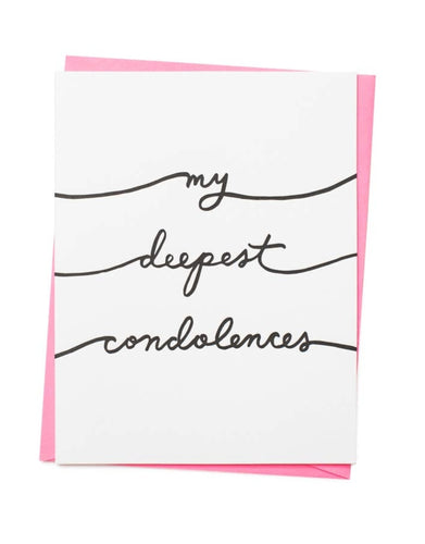Deepest Condolences Card
