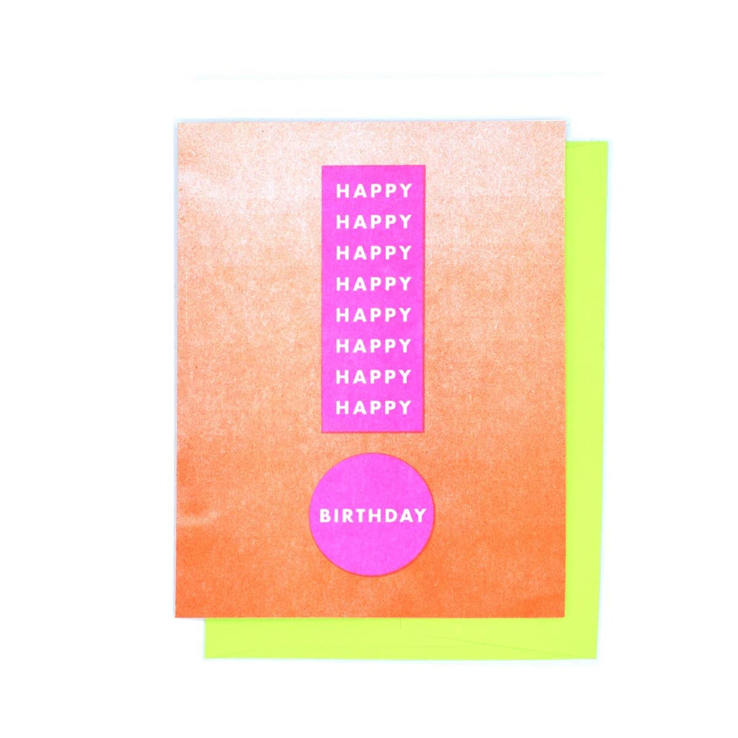 Happy Birthday Exclamation Card