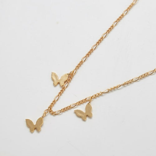 Gold Butterfly Choker Necklace