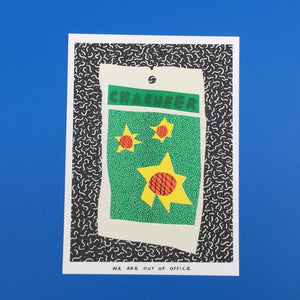 Little Bag of Sunflower Seeds Riso Print