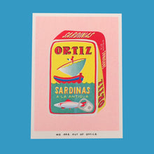 Load image into Gallery viewer, Can Full of Sardinas Riso Print