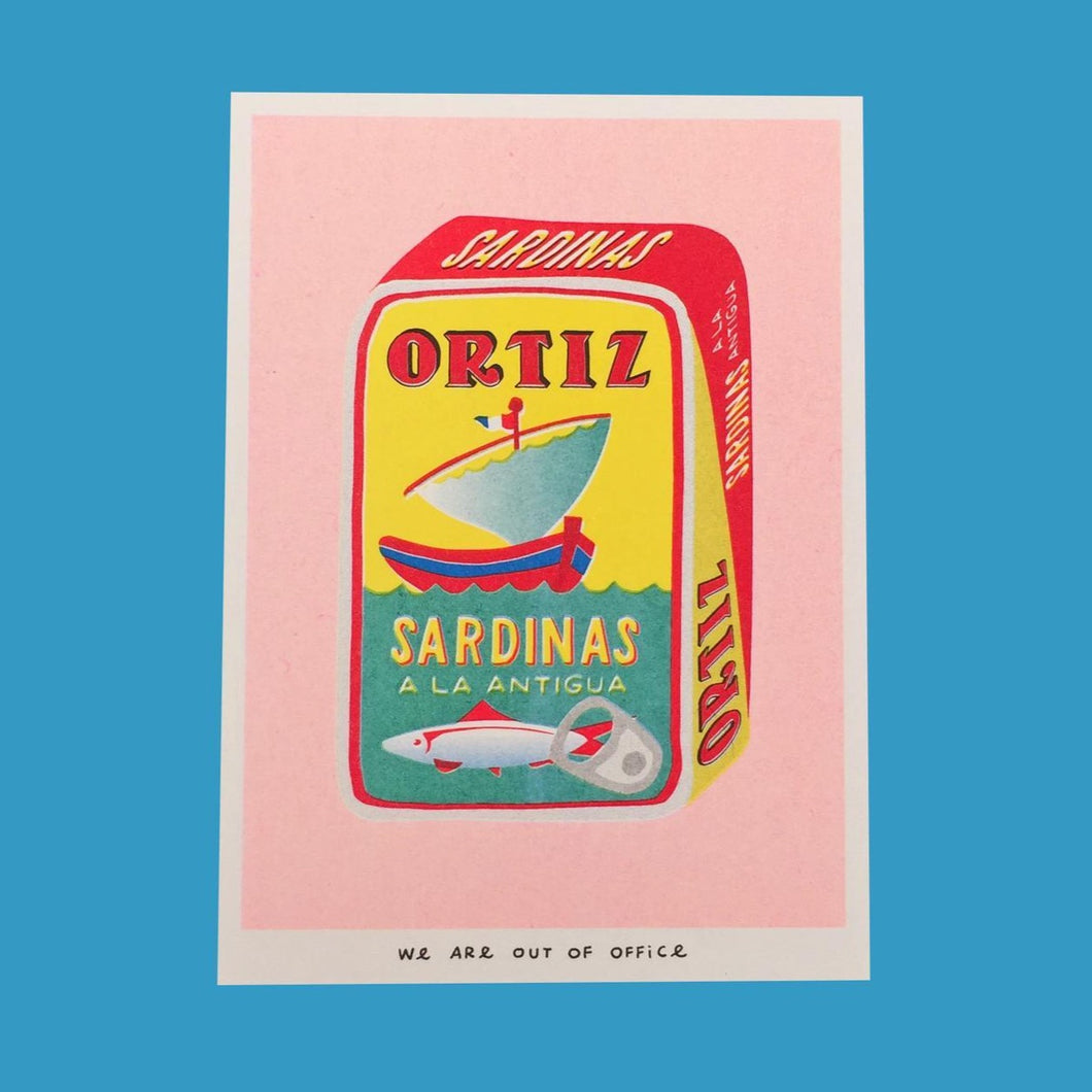 Can Full of Sardinas Riso Print