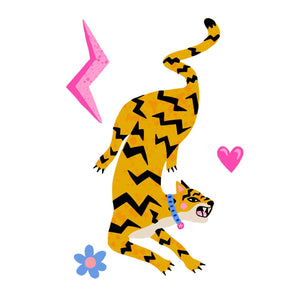 Leaping Tiger Art Print