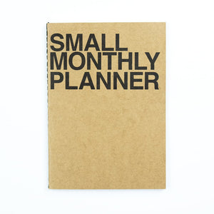 JSTORY - Small Monthly Planner - Kraft