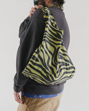 Load image into Gallery viewer, Olive Zebra Reusable Bag