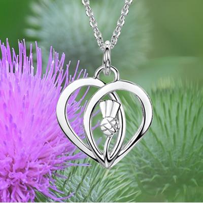 Glenna Scottish Thistle | Scottish Thistle Silver Jewellery | Scotland