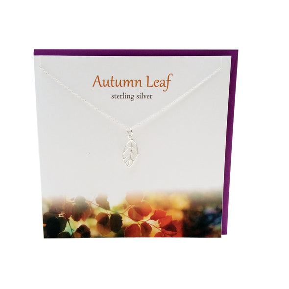 Autumn Leaf silver necklace | The Silver Studio Scotland