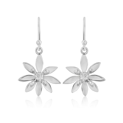 Allium medium silver drop earrings| Glenna Jewellery Scotland