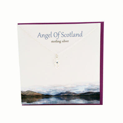 Guardian Angel of Scotland silver necklace | The Silver Studio Scotland