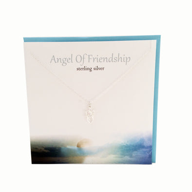 Angel of Friendship silver necklace | The Silver Studio Scotland