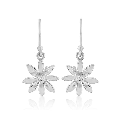 Allium small silver drop earrings| Glenna Jewellery Scotland