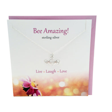 Bee Amazing silver Bee necklace | The Silver Studio Scotland