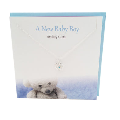 New Baby Boy silver necklace for Mum | The Silver Studio Scotland