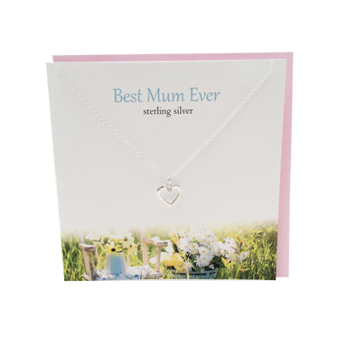 Best Mum Ever silver heart necklace | The Silver Studio Scotland