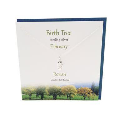 February Birth Tree  Rowan silver necklace | The Silver Studio Scotland