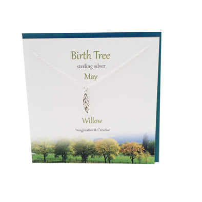 May Birth Tree Willow silver necklace | The Silver Studio Scotland
