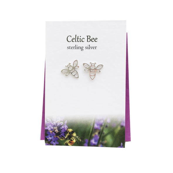 Celtic Bee silver stud earrings| The Silver Studio Scotland